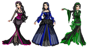 3 gothic ladies.dolls by Bitterkawaii