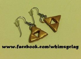 Triforce earrings by Emyradea