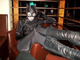 Catwoman reclining by Reverie-Kitsune