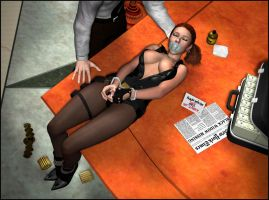 Black Widow Tied Up, Gagged And Sedated 03 by WidowHunter
