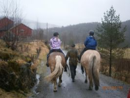 Riding at camp by Lunaticharmed