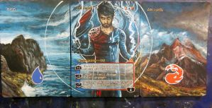 Magic the Gathering Alteration: Ral Zarek Panorama by Ondal-the-Fool