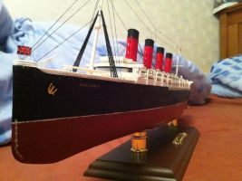 RMS Lusitania 1:350 Scale by Crystal-Eclair