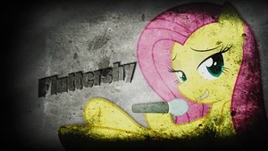 Fluttershy wallpaper by Izeer