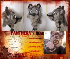 Panthera- fursuit head +video by Grion