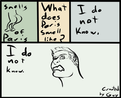 Guy Comic Concepts #2: smells of paris by artofguy