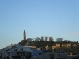 Cityscape Edinburgh 0 (from the hill) by Cippman