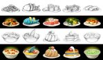 Food icons by artforgame