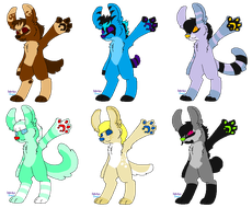 Candy Creatures Adopts (CLOSED) by DetritusDroid