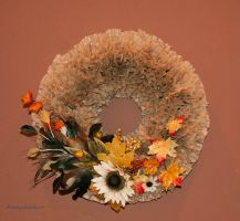 Coffee Filter Wreath Stock by kayaksailor