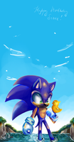 Happy Birthday Sonic. by silveyn