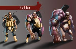 Zombies - Dwarf Fighter by Shady-Rogue