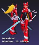 Mythos: Megaman Zero + Windows 3D Viewer by Garm-r