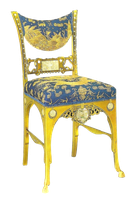 Blue and gold antique chair by jinifur
