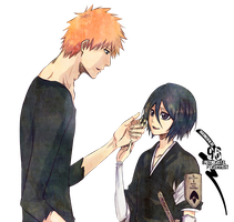Ichigo and Rukia Render by bbernkastel
