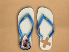 flip flop shark by Titareco