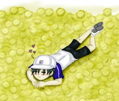 1 boy, 300 tennisballs by UmiHoshi