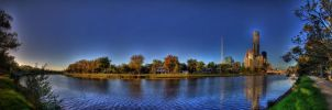 Yarra River in HDR - Melbourne, Australia by dzign-art