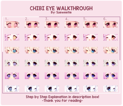 Simple Chibi Eye Walkthrough + Explanation by Sueweetie