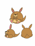 Kangaroo and joey squishable! by thetoonmanjoe