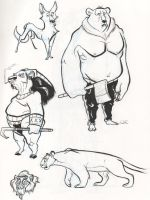 sketches of amazing animals by friend-of-totoro