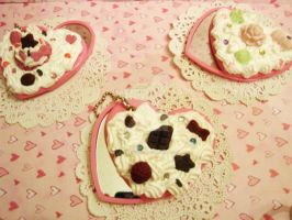 Sweet Lolita Deco Heart Shaped Compact Mirror by LadySashaviv