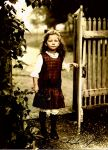 A girl at the gate by Linnea-Rose