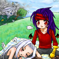 Vincent and Sephiroth pic nic by chibicomadreja
