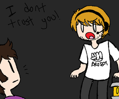 PEWDIE DOESNT TRUST YOU by Blueshadow54