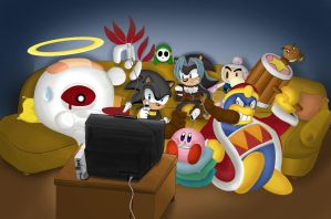 Everyone's playing Wii by Khazam