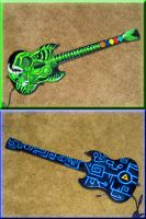 Guitar Hero Custom Zora Axe by poisonedshadow