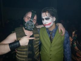 Bane and the Joker by LeanAndJess