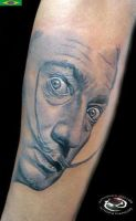 Salvador Dali by DallierTattoo