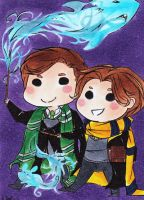 XMFC and HP Erik and Charles by EndlessSummersDay