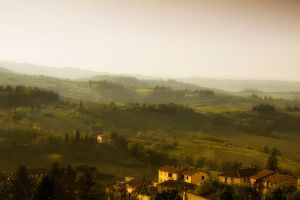 rolling hills of Tuscany by rhipster