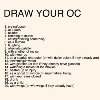 Draw Your OC Challenge by KittensDraws