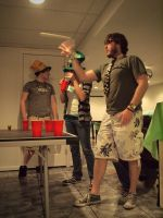 Beer Pong in Motion by Scipio164