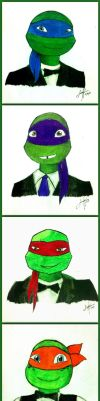 Turtles in Tuxedo by KatanaBerry