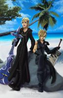 Cloud and Demyx by Adyon