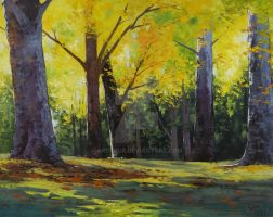Autumn Park - oil painting by artsaus