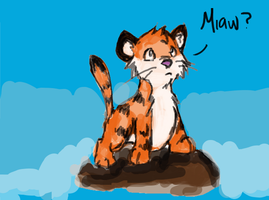 baby tigger  in island by jellynoid