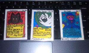 OC-Trading Cards Sample by Augustyne