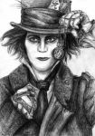Ville Valo as Mad Hatter by SarembaArt