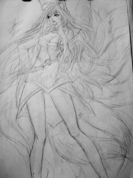 Ahri LOL - fanart by rom-kun