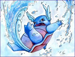 Wartortle used Aqua Tail by Nyuwa-59