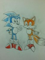 Sonic And Tails Sketch by ClassicSonicSatAm