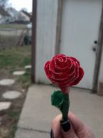 Red Duck Tape Rose by Sydbak