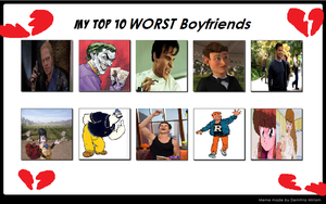 Kessie's Top 10 Worst Boyfriend Types by KessieLou