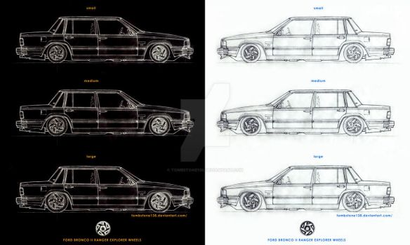 Droped Volvo 744 with Ford  Bronco II wheels by Tombstone138