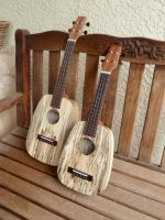 Iriguchi Ukuleles - Two in spalted Tamarind by thehappyukulele